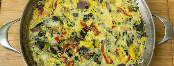 Frittata an easy and tasty way to add eggs and veggies in to your diet.