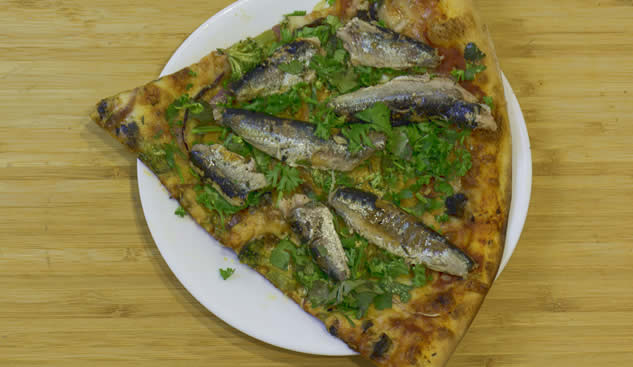sardines on pizza