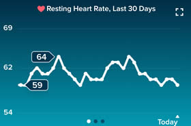 heart rate at rest