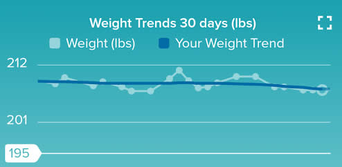 fitbit weight loss trends